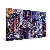 Premium Textil-Leinwand 90 cm x 60 cm quer, Hongkong | Wandbild, Bild auf Keilrahmen, Fertigbild auf echter Leinwand, Leinwanddruck (CALVENDO Orte)