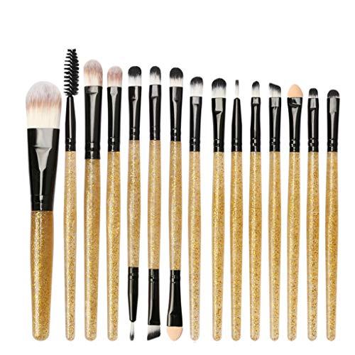 Dorical Make-up-Pinsel set 15 Stück/Professionellen Schminkpinsel Kosmetikpinsel Lidschatten Gesichtspinsel Eyeliner Cosmetics Pinselset Schmink Pinselset Gold