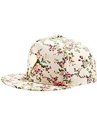 Blumendruck Snapback Cap Floral Hip Hop Baseballkappe Flat Schildmütze mit Metal Anwendung