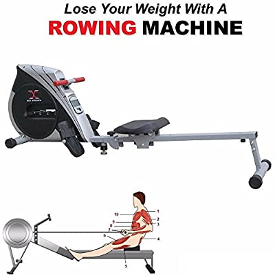 MAXSTRENGTH ® Magnetic Folding Rowing Machine Home Gym Rower Fitness Cardio from MAXSTRENGTH ®