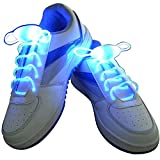 AGE CARE LED Shoe Laces Light Up Shoe Laces with 3 Blinking Modes Fashion Light Up Casual Sneaker Shoe Laces Disco Party Night Glowing Shoe Strings (BLUE)