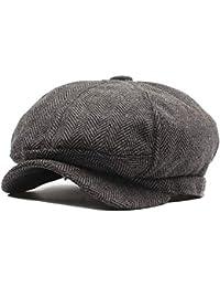 Casquillo del Sombrero de la Boina de Las Mujeres Hombres y Mujeres Sombrero  Octogonal de otoño e Invierno Sombrero… 8531e3dff71