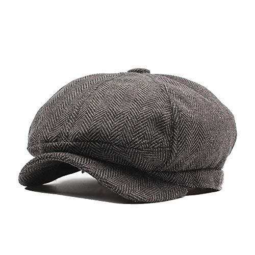 Aszhdfihas Der Baretthut der Frauen Männer und Frauen Herbst und Winter achteckigen Hut Newspaperboy Hut Mütze Cap Damen Mädchen ()