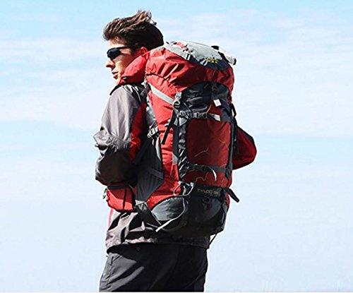 Arrampicata borsa a spalla-spalla zaino viaggio borsa con donne e uomini 60L outdoor zaino , rust red 60 litres rust red 60 litres