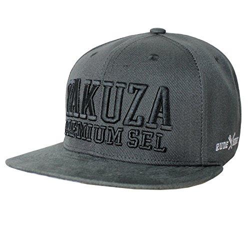 Yakuza Premium Basecap 2588 dunkelgrau Snapback