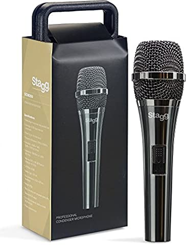 Professional cardioid electret condenser microphone with cartridge