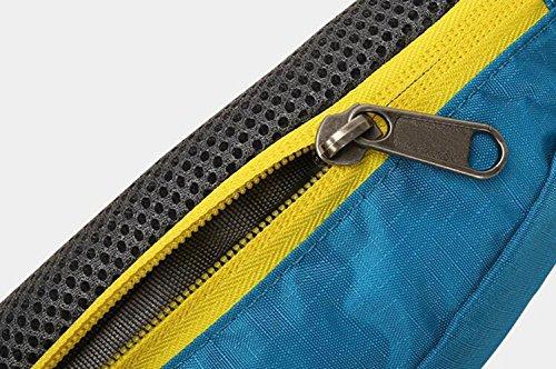 OOFWY Pacchetti di vita Outdoor Sport Escursionismo Borsa a tracolla in velluto a vita Borsa Portafoglio Zip Fanny Pack Borsa Bum , A D