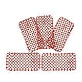 B Blesiya 5X Kunststoff Lochmatte für Vögel/Papageien, 29,5 x 15 cm - Rot