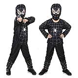 WU LAI Halloween Kostüm Serie - 110-150cm Offizielles Spider-Man Homecoming Kostüm Ball Kostüm,Black-C-130cm