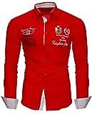 Kayhan Herren Hemd Monaco Rot(L)