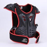 Hi8motocicleta Armor chaleco espalda protección niños para ciclismo esquí equitación, diseño de monopatín, color rojo, tamaño L for 9-10Years