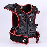 JIAJUN Hi8Motocicleta Armor Chaleco Espalda protección niños para Ciclismo esquí equitación, diseño de monopatín, Color Rojo, tamaño S for 5-6Years