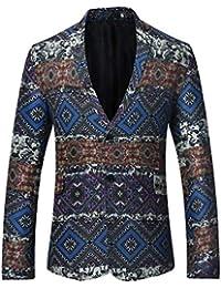 Saoye Fashion Chaqueta Ajustada De Estilo Étnico 2018 De Los Hombres Chaqueta Ajustada Ropa De Los