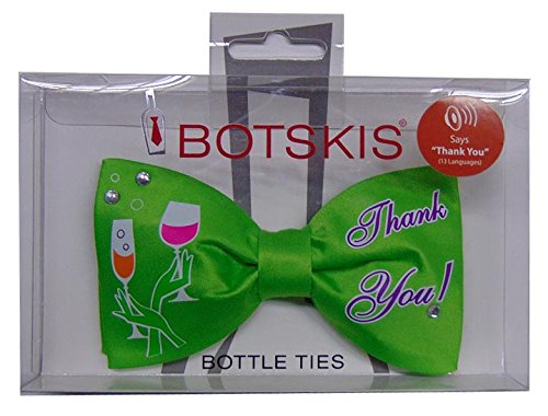 Bottle bow Ties Birthday Party Thank You