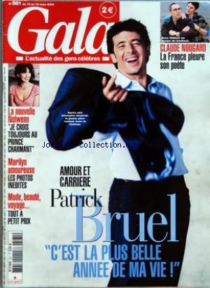 Photos Patrick Bruel - GALA [No 561] du 10/03/2004 - CLAUDE