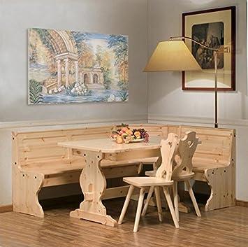 Sala rustica tirolese in legno massello di pino di Svezia -Colore ...