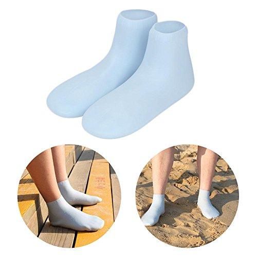 Silikon-Strandsocken, Low Cut Socken für Männer und Frauen, faltbar, langlebig und gegen Sand, perfekt zum Schwimmen, Beach-Volleyball, Schnorcheln, Wassersport