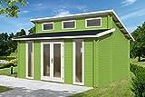 Gartenhaus LANGEOOG B58 Blockhaus Holzhaus 470 x 350 cm - 58 mm Ferienhaus