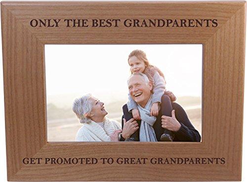 Nur Die Besten Großeltern Get gefördert zu tollem Großeltern-Holz Bild Rahmen hält 10,2x 15,2cm Foto-Great Weihnachten, Vater, Mother 's Day Geschenk für Eltern