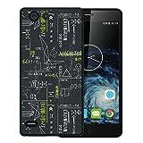 WoowCase Elephone S2 Hülle, Handyhülle Silikon für [ Elephone S2 ] Grüne mathematische Formeln Handytasche Handy Cover Case Schutzhülle Flexible TPU - Schwarz