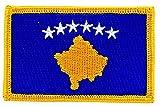 Patch Aufnäher bestickt Flagge Kosovo Kosovo zum Aufbügeln Abzeichen Backpack
