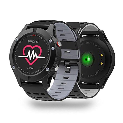 Galleria fotografica Activity Tracker NO.1 F5 smartwatch Android in Offerta-IP68 impermeabile,schermo a colori,GPS con Monitoraggio Attività e Profili Sport,Bluetooth Fitness Tracker,monitor cardiaca. (grigio)