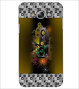 PrintDhaba Music D-5727 Back Case Cover for SAMSUNG GALAXY A7 (Multi-Coloured)