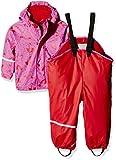 CareTec Kinder wasserdichte Regenlatzhose und -jacke im Set (verschiedene Farben), Rot (Red 402), 104