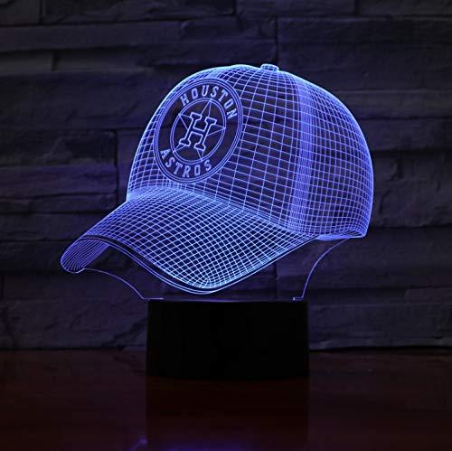 ton Astros Baseball Cup Touch Sensor Rbg 7 Farbwechsel Kinder Kinder Geschenk Usb Nachtlicht Decor 3D ()