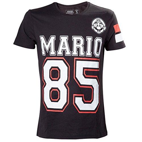 Nintendo Super Mario Bros. Mario 85 Streetwear American Football Jersey-camiseta Hombre    Negro negro Medium