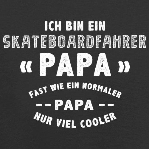 Ich bin ein Skateboardfahrer Papa - Herren T-Shirt - 13 Farben Schwarz