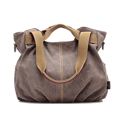La haute da donna casual tela borsa fashion Daily Hobo borsetta borsa a tracolla borsa per la spesa resistente, Blue (blu) - LHTE-11 Brown