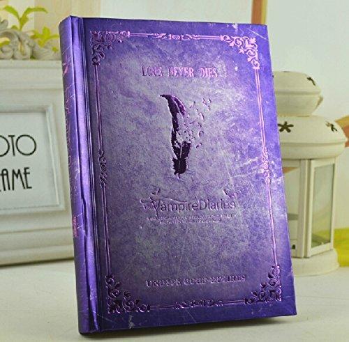Vampire Diaries vintage Agenda Journal Book Agenda ordinateur portable bloc-notes violet