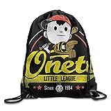 Dhrenvn Drawstring Backpack Sack Bag Earthbound Ness Onett Little League Baseball Since 1994 Home Travel Sport Storage Hiking Running Bags