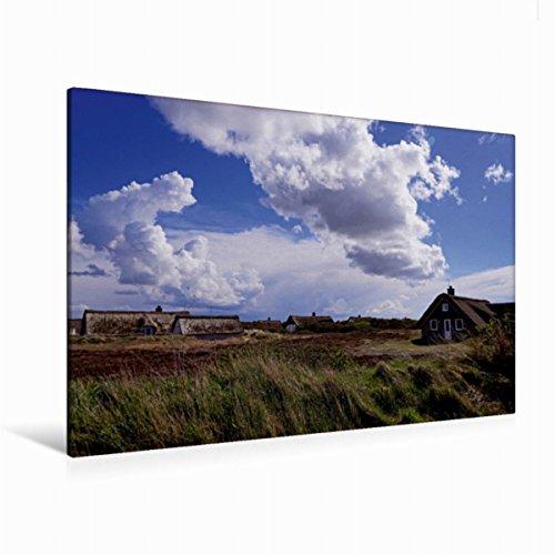 Preisvergleich Produktbild Leinwand Ferienhäuser in Klegod 120x80cm, Special-Edition Wandbild, Bild auf Keilrahmen, Fertigbild auf hochwertigem Textil, Leinwanddruck, kein Poster