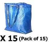 15x FRAKTA–Blau Medium Shopping, Wäschesack Set von 15