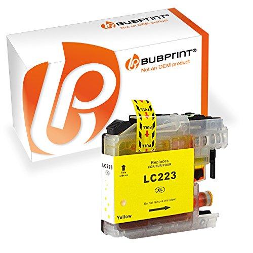 Preisvergleich Produktbild Bubprint Druckerpatrone kompatibel für Brother LC-223 LC-225 LC-227 für DCP-J4120DW DCP-J562DW MFC-J4420DW MFC-J4620DW MFC-J480DW MFC-J5320DW Gelb
