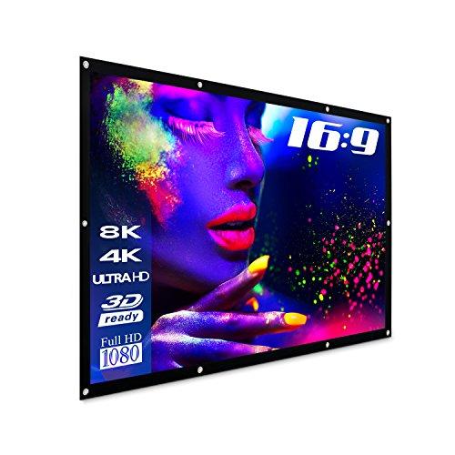 "eSmart Germany Spann-Leinwand SPANMI [Größenauswahl] 221 x 125 cm (100"") 16:9 | Vollmaskierung | Heimkino Beamer Projektionsleinwand Outdoor Leinwand LCD LED"