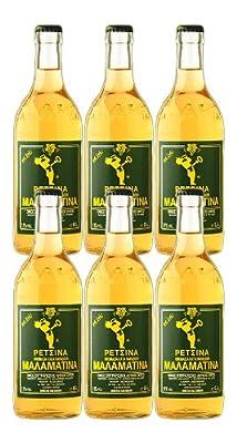 Malamatina Retsina 6er Pack, (6 x 500ml Flasche)