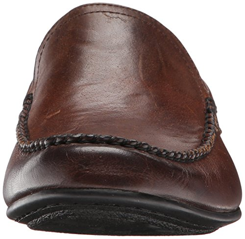 Frye Lewis Venetian Leder Slipper Dark Brown Soft Vintage Leather
