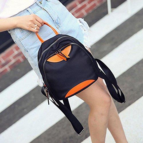 Z&YF Sportrucksack Reisetasche Weibliche beiläufige Tasche Rucksack Schülertasche Handtasche schwarz Black