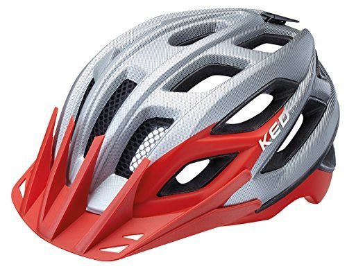 KED Fahrradhelm Companion, Größe M, Kopfumfang 52-58 cm, Pearl Red Matt, Neuer, sportlich – aggressiv gestylter Allroundhelm im All-Mountain-Look für Trail und Tour - Made in Germany