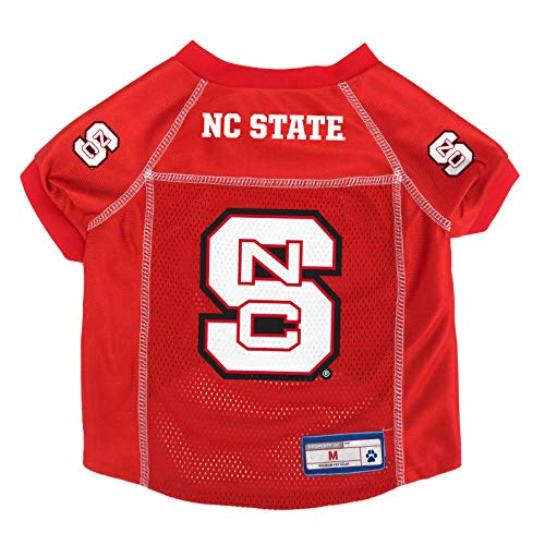 NCAA Pet Jersey, Pet Jersey, hellrot, Large Ncsu Basketball