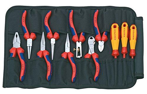 KNIPEX 00 19 41 Werkzeug-Rolltasche 11-teilig