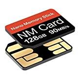 Carte NM 128Go 90Mo/s Nano Carte mémoire Carte SD Nano Carte Compact Flash, Uniquement Compatible avec Les séries Huawei P30 P30pro et Mate20, Carte Nano 128Go