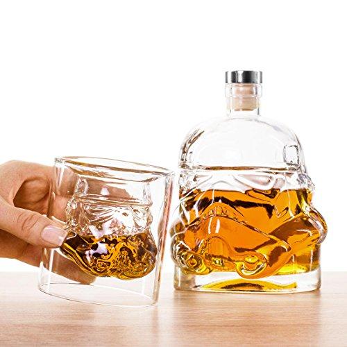 getDigital Star Wars Stormtrooper Whiskey Glas und Karaffe : Set mit Karaffe und Zwei Gläsern
