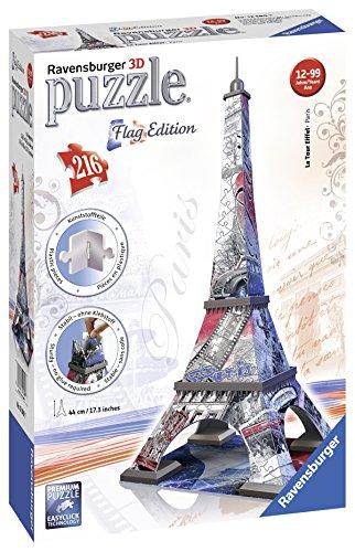 3d Flag (Ravensburger 12580 - Flag Edition Eiffelturm - 3D Puzzle-Bauwerke, 216 Teile)