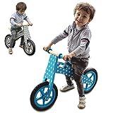 Monsieur Bébé® Draisina in legno, bici senza pedali con sella regolabile - 2 colori - Norma CE