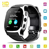 Smart Watch Uhr, Hizek Intelligente Armbanduhr Fitness Tracker Armband mit Kamera SIM Karte Touchscreen Telefon Kompatible für Smartwatch Android und IOS