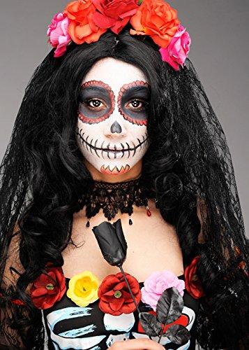 Womens Deluxe Tag der Toten Blume Schleier ()